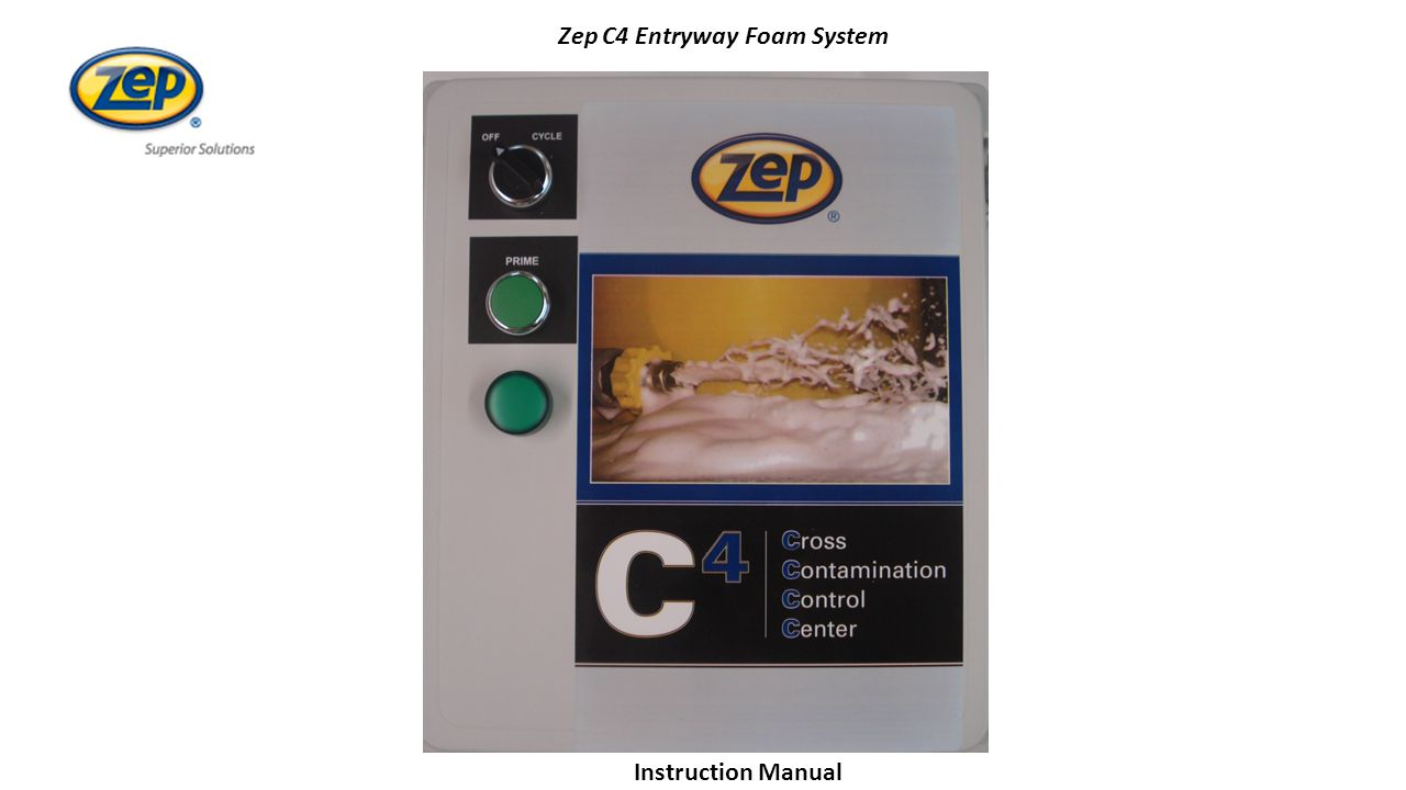 ZepZep C4 Entryway Foam System uctionInstruction Manual