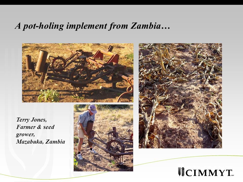 A pot-holing implement from Zambia… Terry Jones, Farmer & seed grower, Mazabuka, Zambia