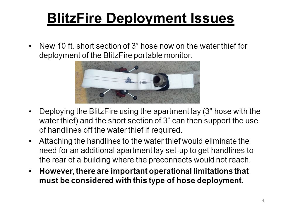 BlitzFire Deployment Issues New 10 ft.