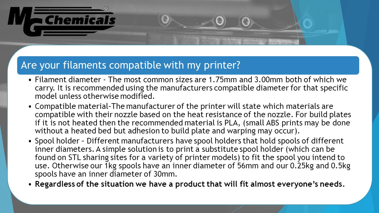 Are your filaments compatible with my printer.