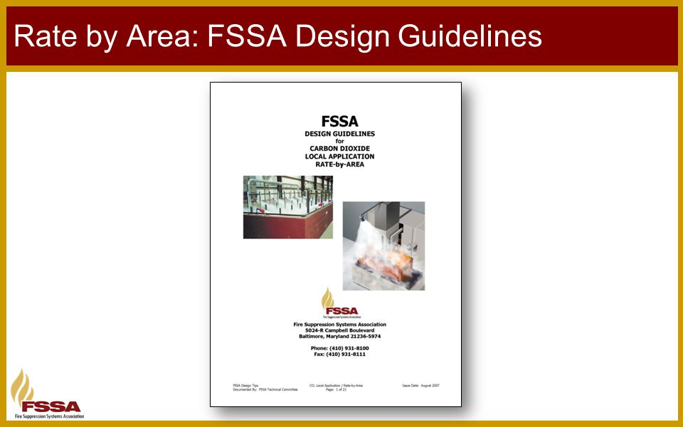 Rate by Area: FSSA Design Guidelines