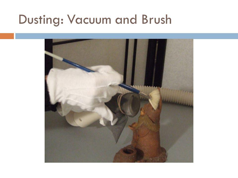 Dusting: Vacuum and Brush