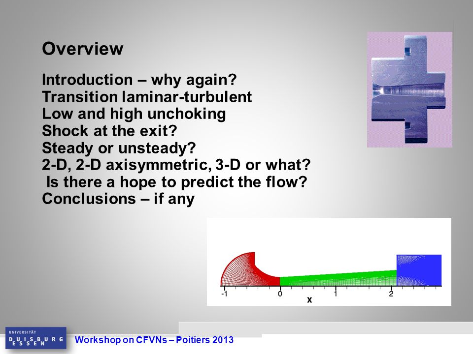 Workshop on CFVNs – Poitiers 2013 Introduction – why again.