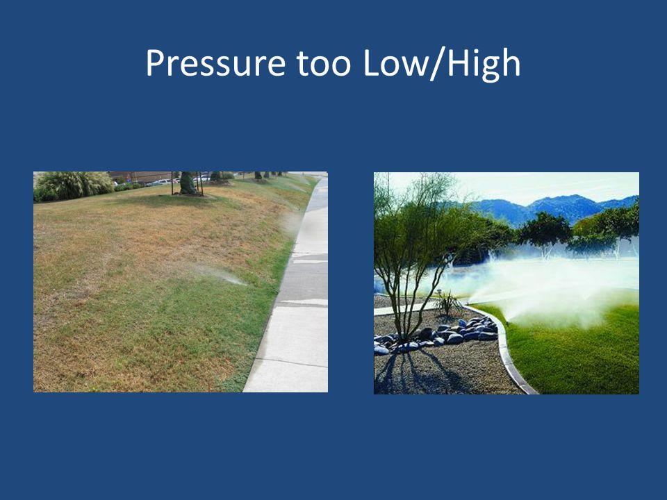 Pressure too Low/High