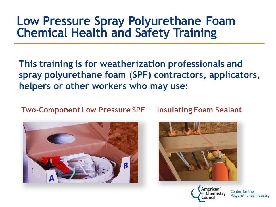 Key Differences Between Low Pressure and High Pressure SPF Products SPF Product LOW PRESSURE (LP) Two-Component LP Kits LOW PRESSURE (LP) LP Refillable Systems HIGH PRESSURE (HP) HP Spray Systems Intended use Air seal/insulate small to mid-size areas Air seal/insulate small to mid-size areas Insulate large surface areas PressureLess than 250 psi 1000-1300 psi Output (Full Trigger) Up to 2-5 lbs.