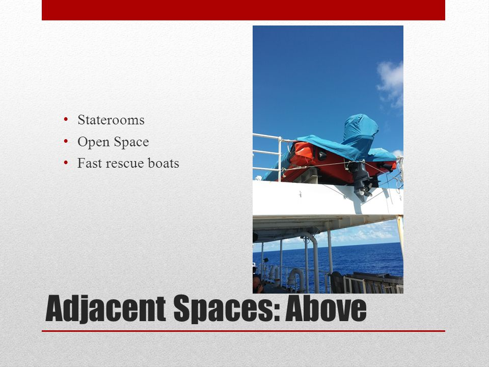 Adjacent Spaces: Below Lower Class Mess Chill Rooms Purser's Office Crane Electrical Panels, transformers, breakers