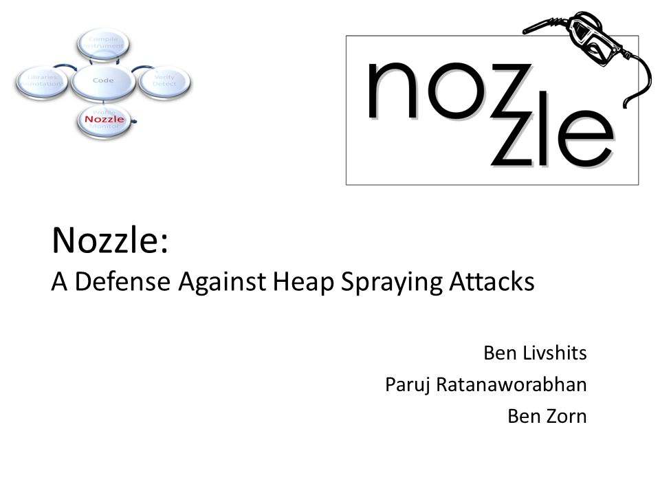 Nozzle: A Defense Against Heap Spraying Attacks Ben Livshits Paruj Ratanaworabhan Ben Zorn
