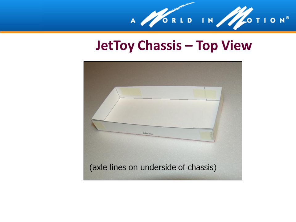 JetToy Chassis – Top View (axle lines on underside of chassis)