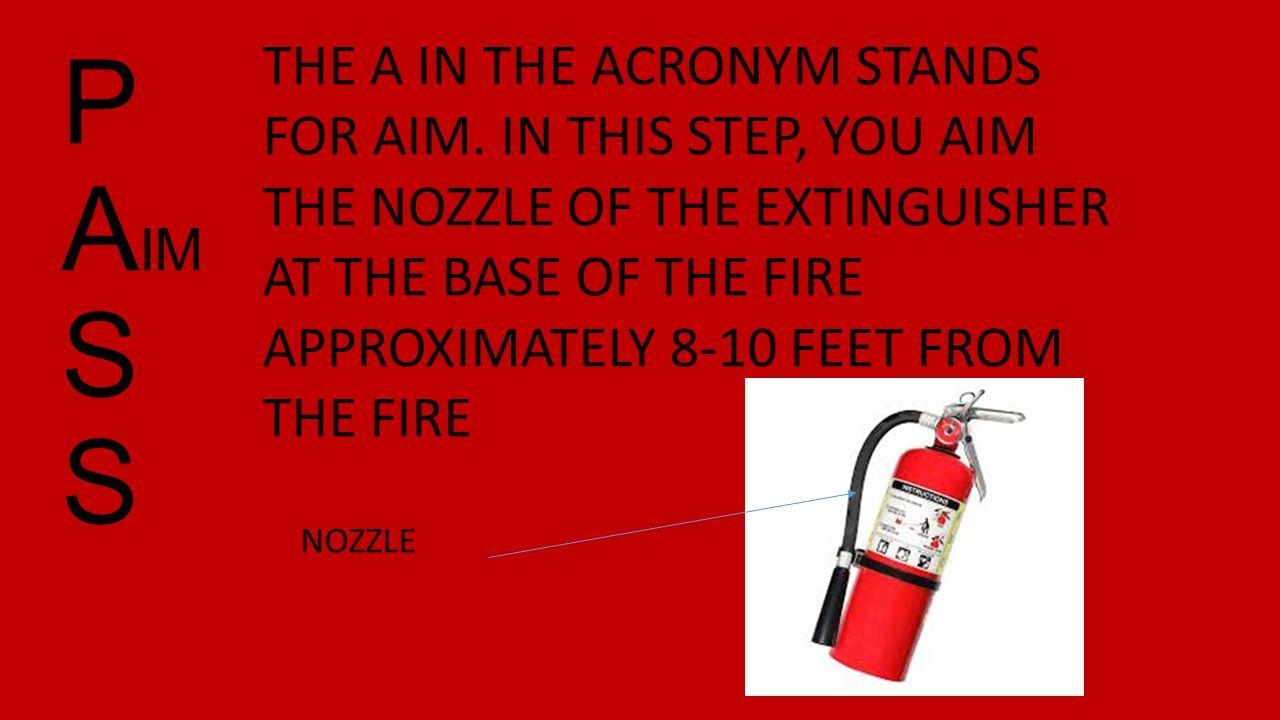 P A IM S S THE A IN THE ACRONYM STANDS FOR AIM.