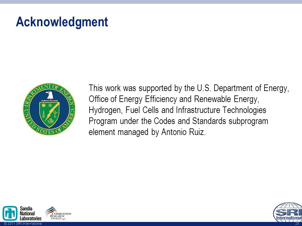 © 2011 SRI International Acknowledgment This work was supported by the U.S.