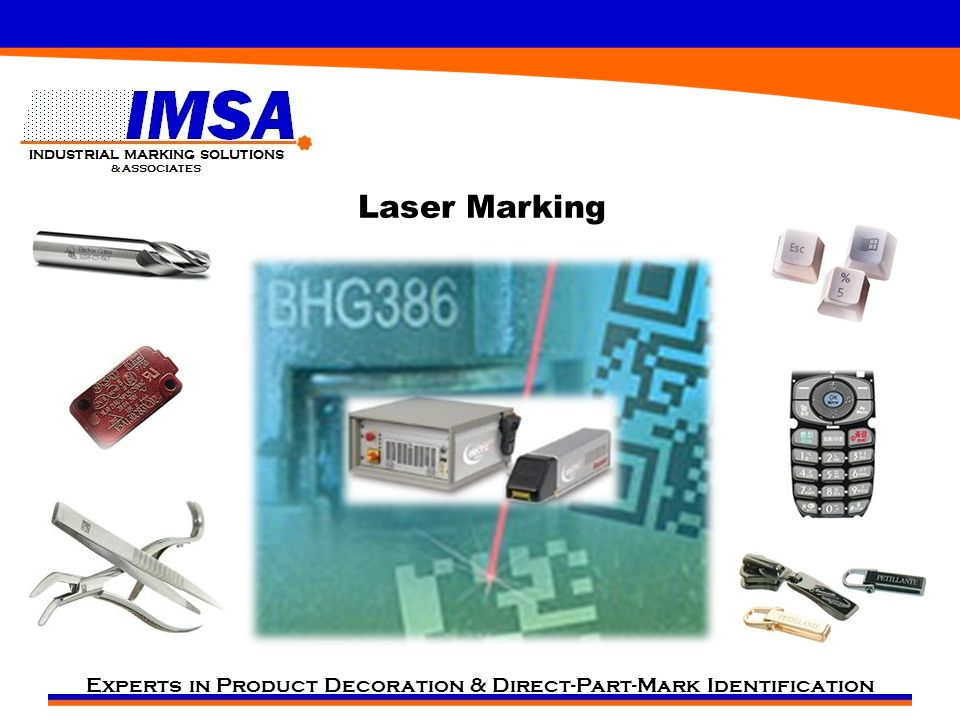 Experts in Product Decoration & Direct-Part-Mark Identification Laser Marking