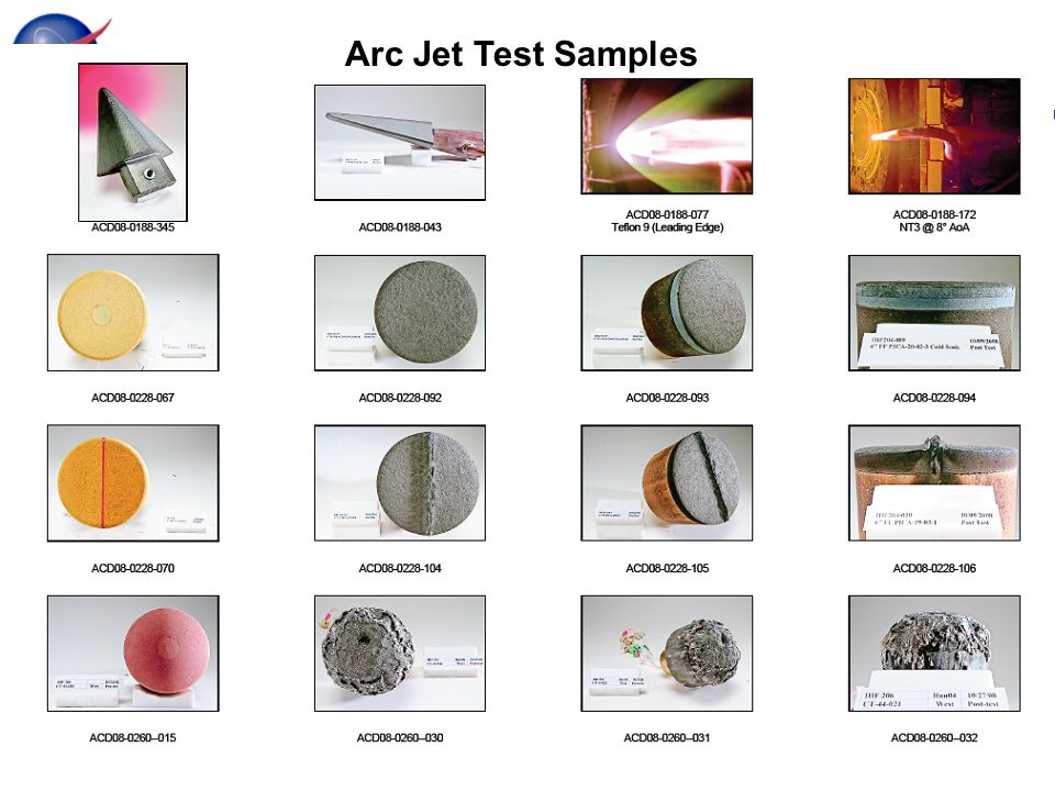 Arc Jet Photo Arc Jet Test Samples