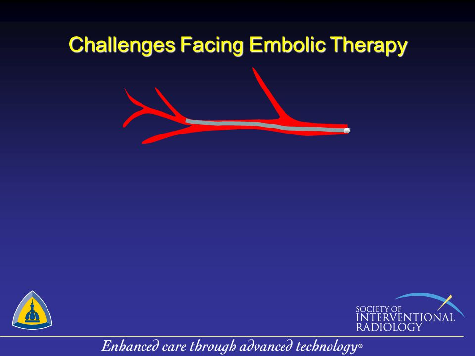 Challenges Facing Embolic Therapy