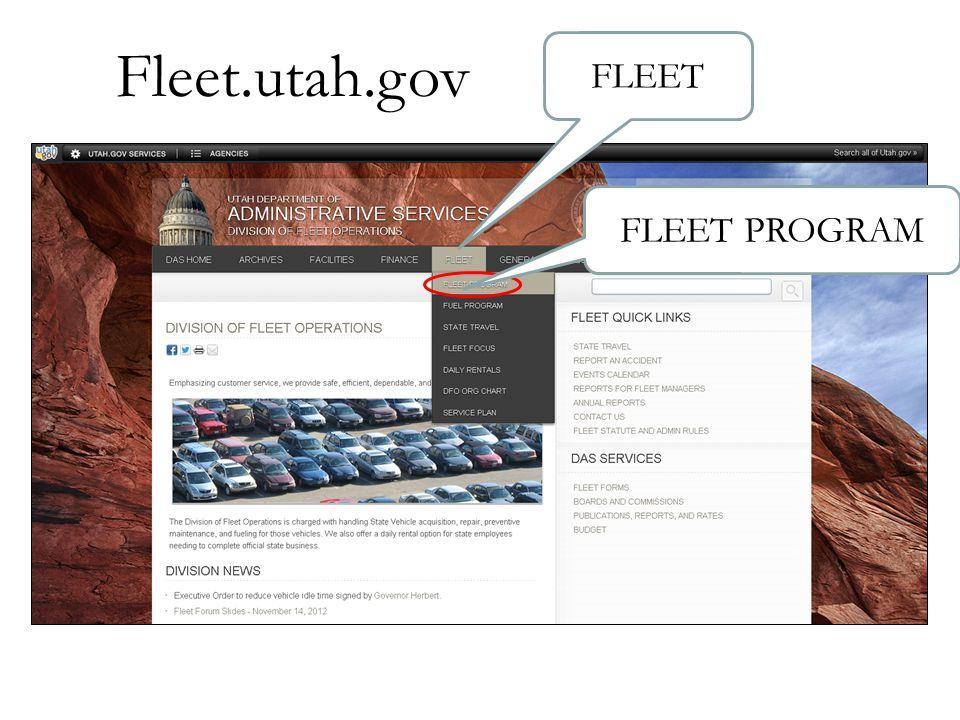 Fleet.utah.gov FLEET FLEET PROGRAM