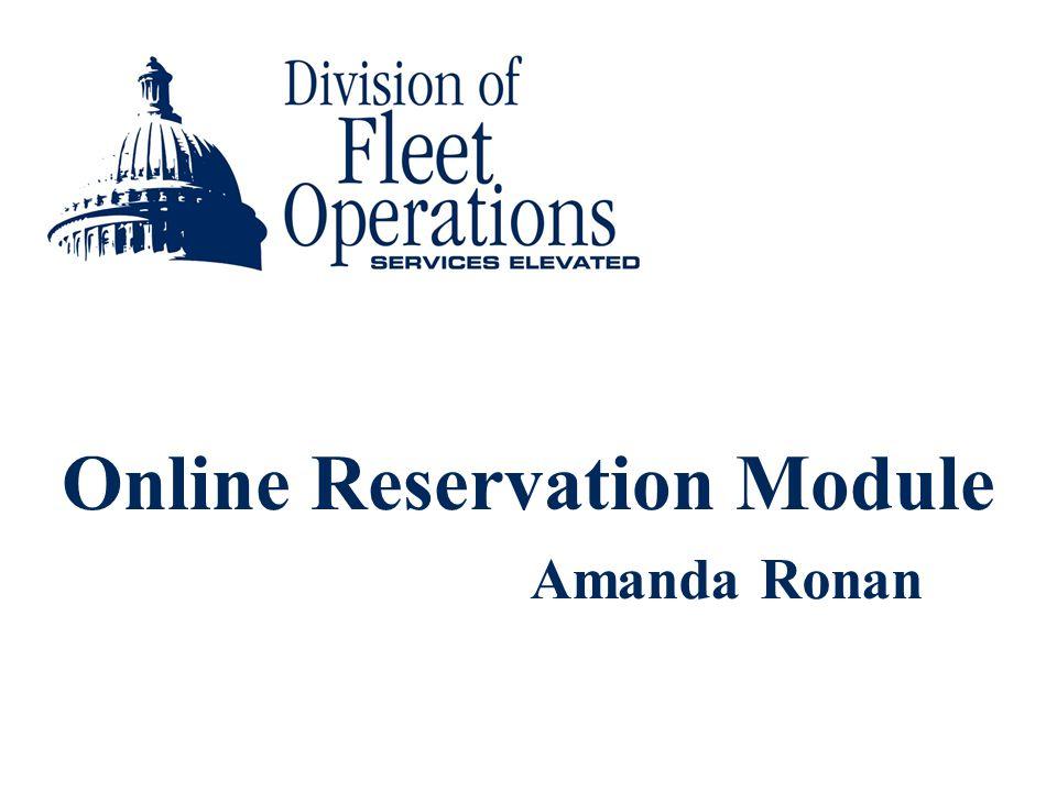 Online Reservation Module Amanda Ronan