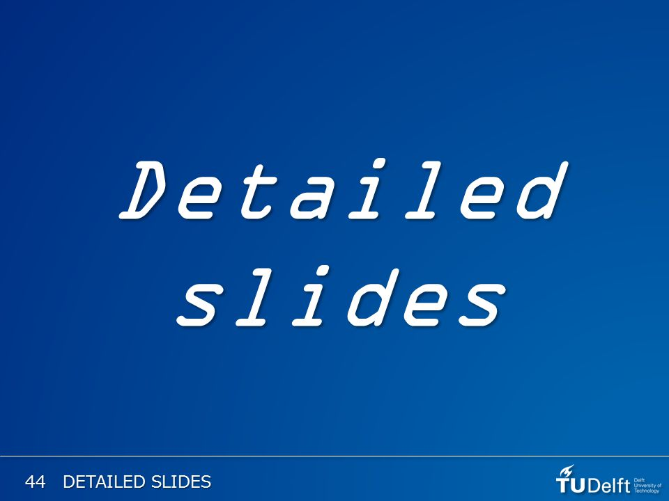 44 DETAILED SLIDES Detailed slides