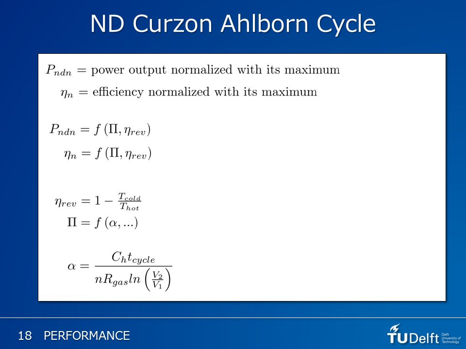 ND Curzon Ahlborn Cycle 18 PERFORMANCE