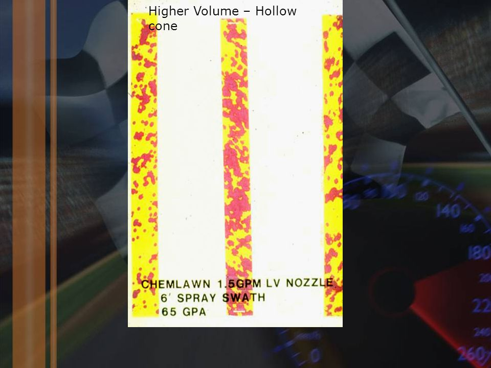 Higher Volume – Hollow cone