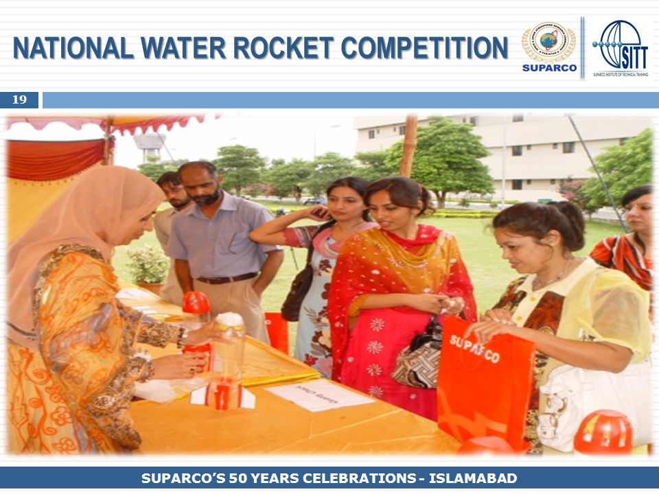 19 SUPARCO'S 50 YEARS CELEBRATIONS - ISLAMABAD NATIONAL WATER ROCKET COMPETITION