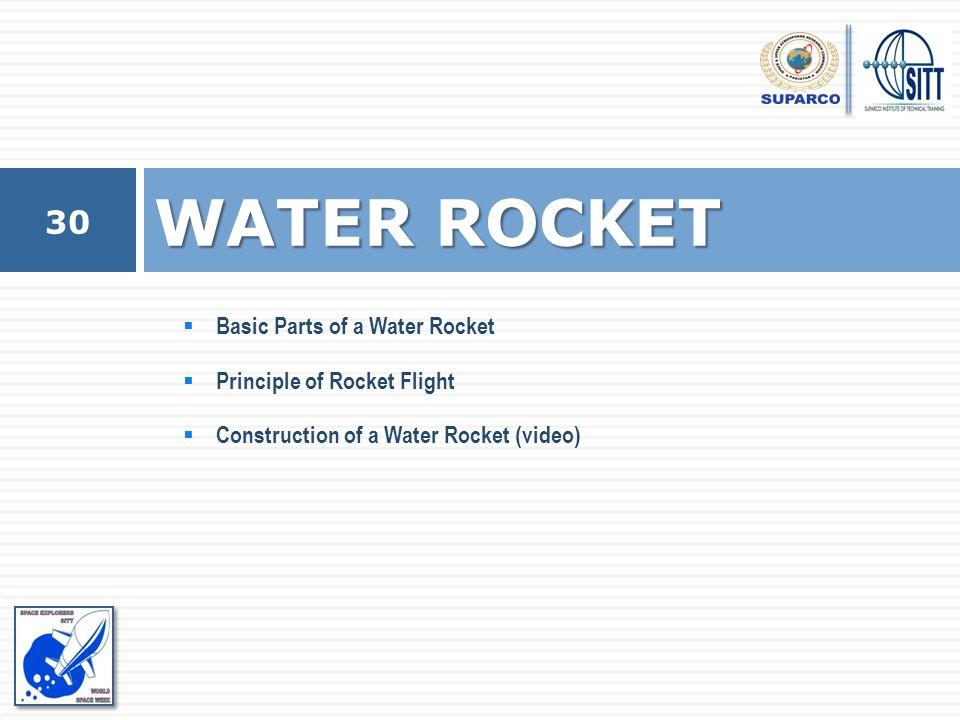 Basic Parts of a Water Rocket  Principle of Rocket Flight  Construction of a Water Rocket (video) WATER ROCKET 30