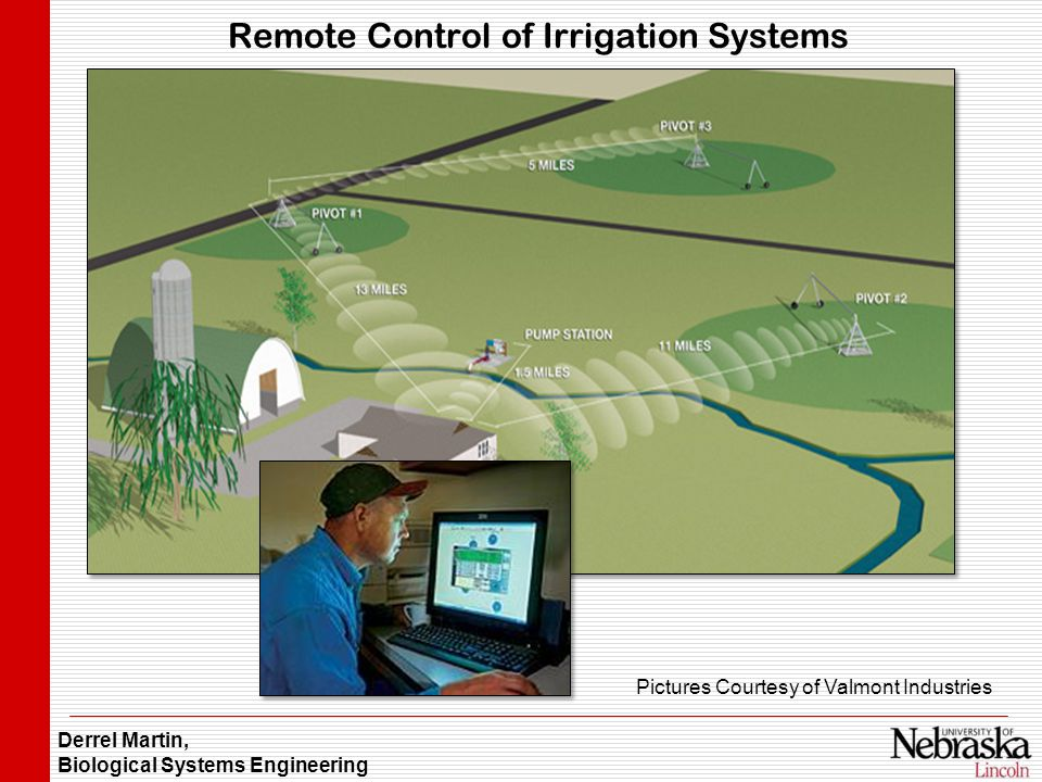 Derrel Martin, Biological Systems Engineering Remote Control of Irrigation Systems Pictures Courtesy of Valmont Industries