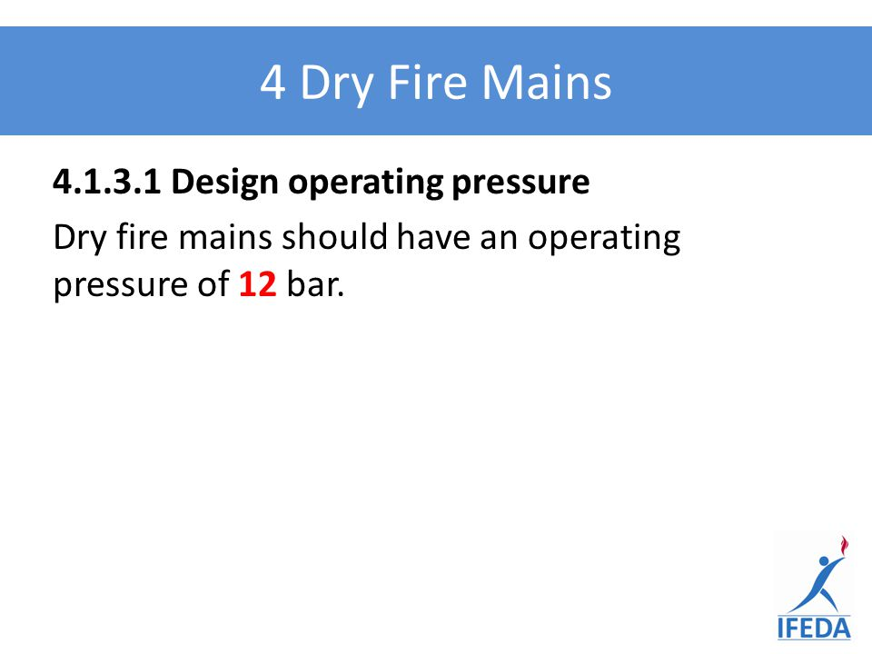 4.2.1 NOTE 2 Guidance on when a fire main should be installed is given in BS 9991 and BS 9999 (previously BS5588-5).