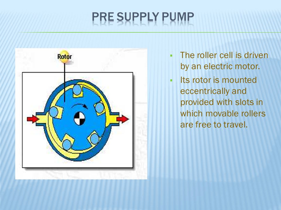  The roller cell is driven by an electric motor.