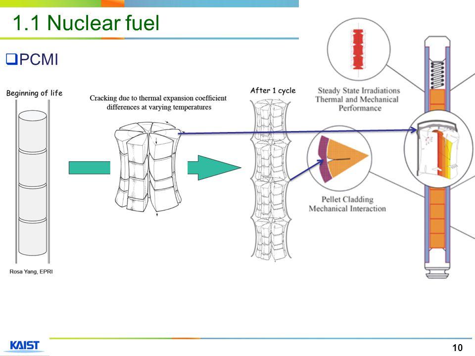 10  PCMI 1.1 Nuclear fuel