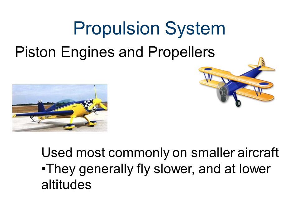 Propulsion System Piston Engines and Propellers