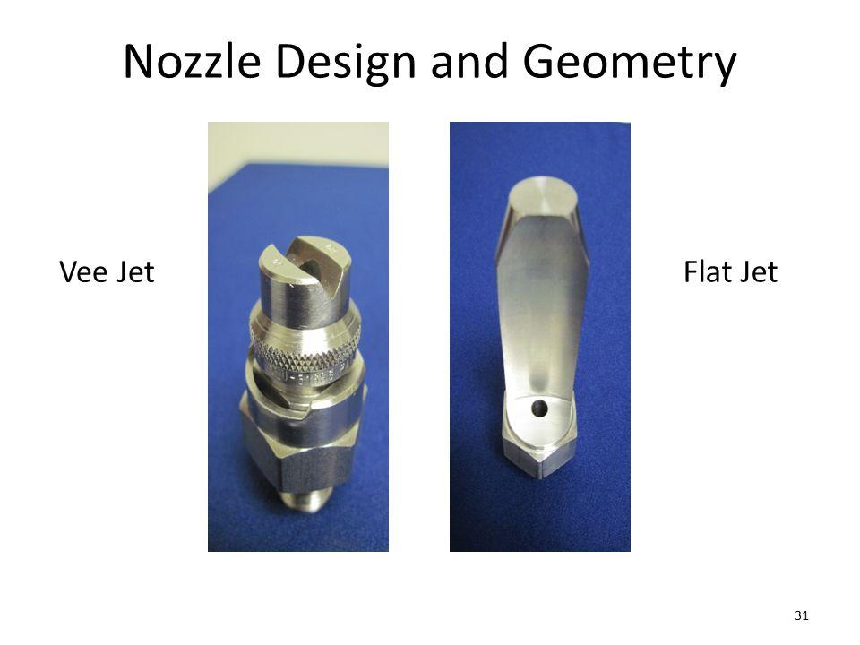 Nozzle Design and Geometry Vee Jet Flat Jet 31