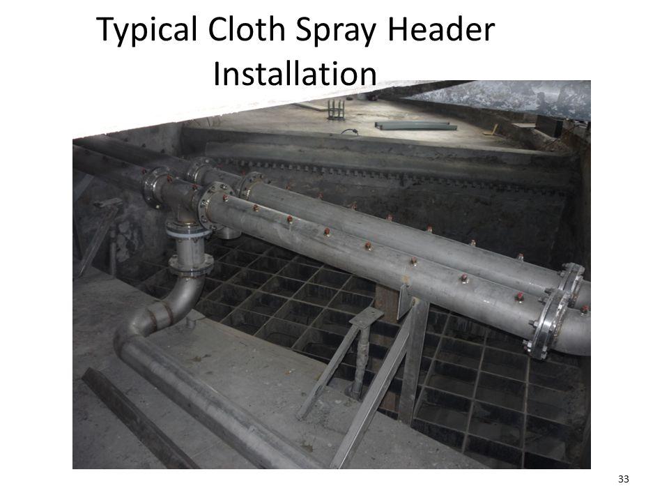 Typical Cloth Spray Header Installation 33