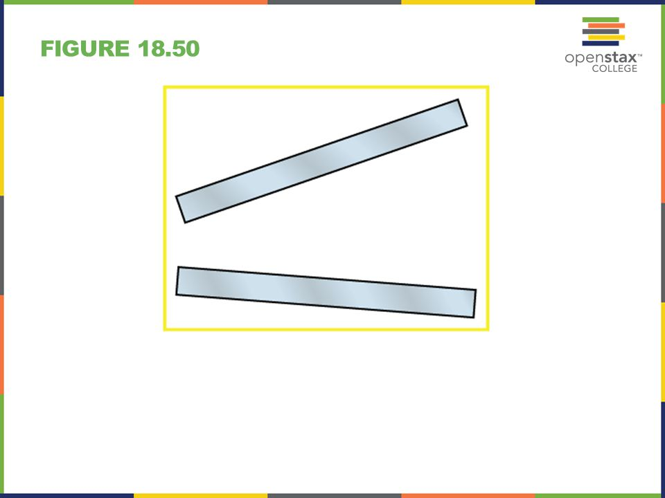 FIGURE 18.51 A charged insulating rod such as might be used in a classroom demonstration.