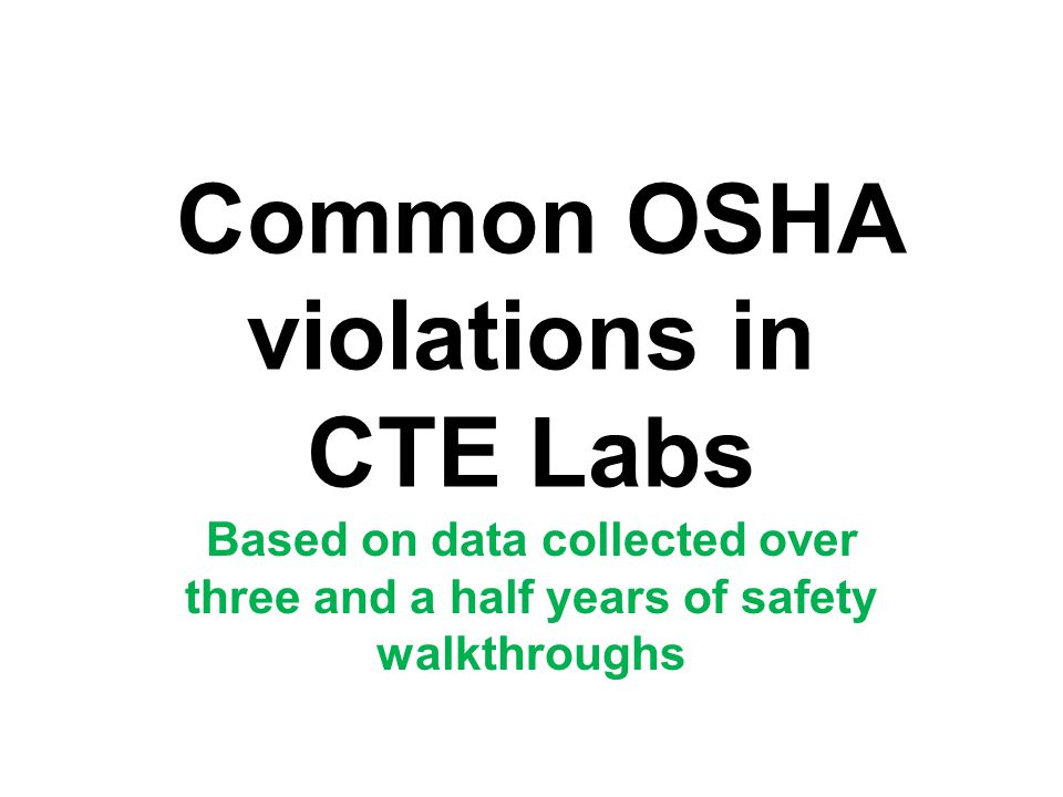 MSDS binder is not up to date Employees right to know of hazardous chemicals (violation) Update information and discard obsolete product sheets