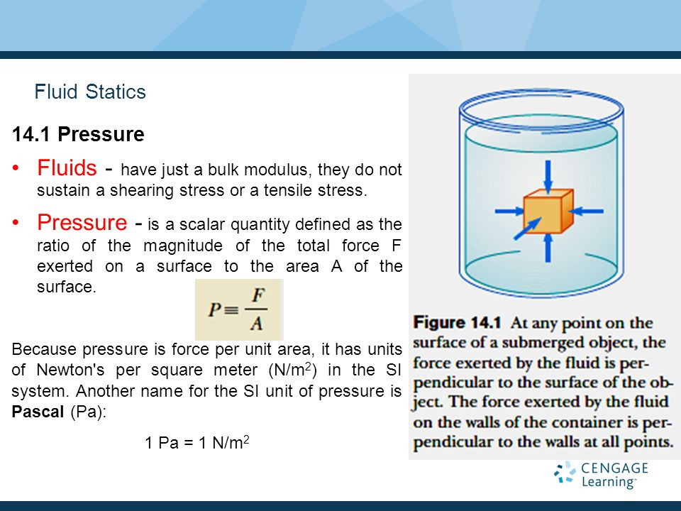 Example 14.2 The Car Lift In a car lift used in a service station, compressed air exerts a force on a small piston that has a circular cross section and a radius of 5 cm.