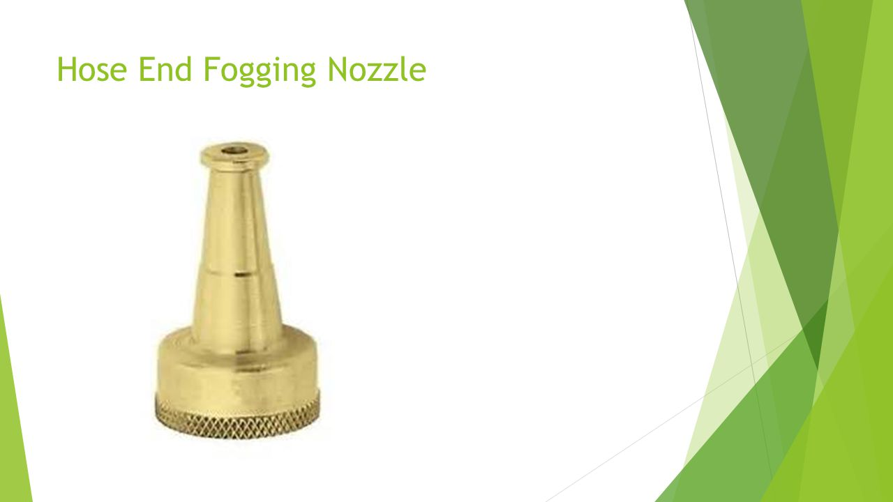 Hose End Fogging Nozzle