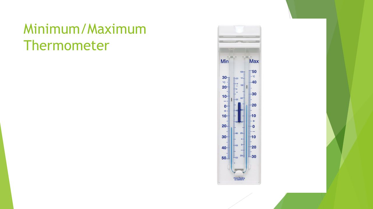 Minimum/Maximum Thermometer