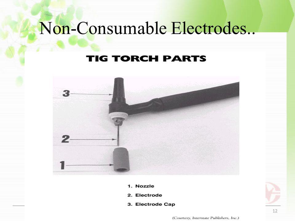 Non-Consumable Electrodes.. Fig: Tunstun holder 12