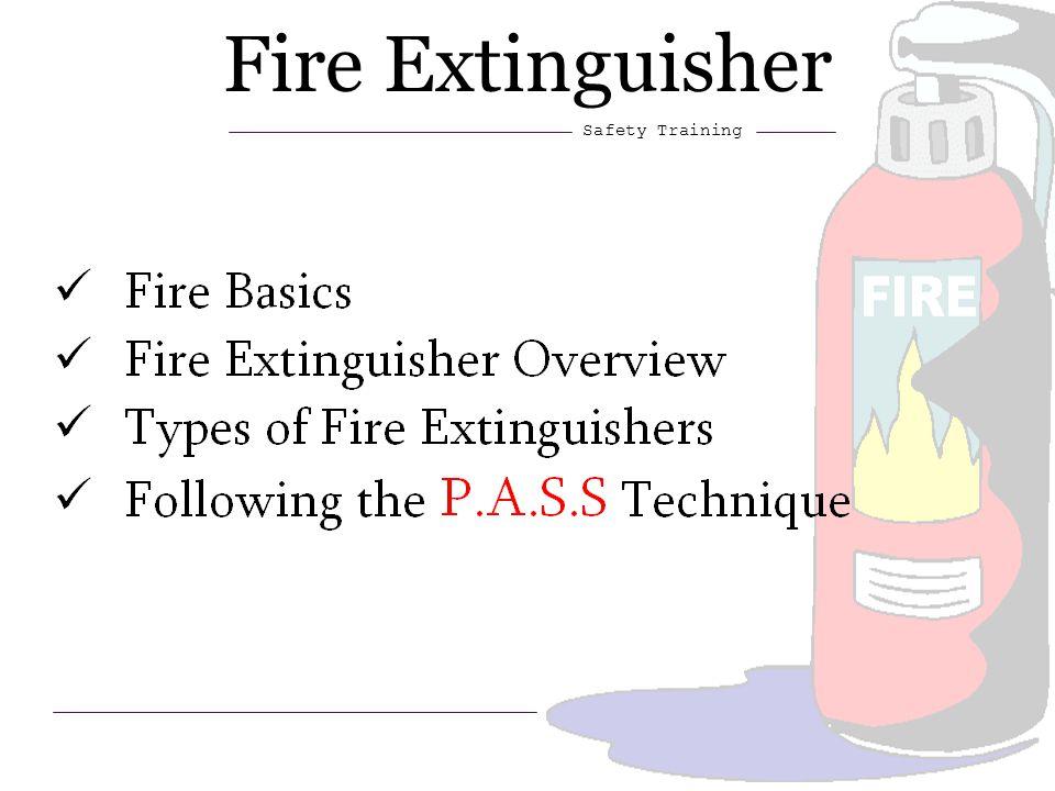 1 Fire Extinguisher Safety Training