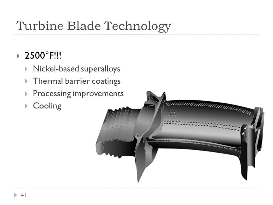 Turbine Blade Technology  2500°F!!.