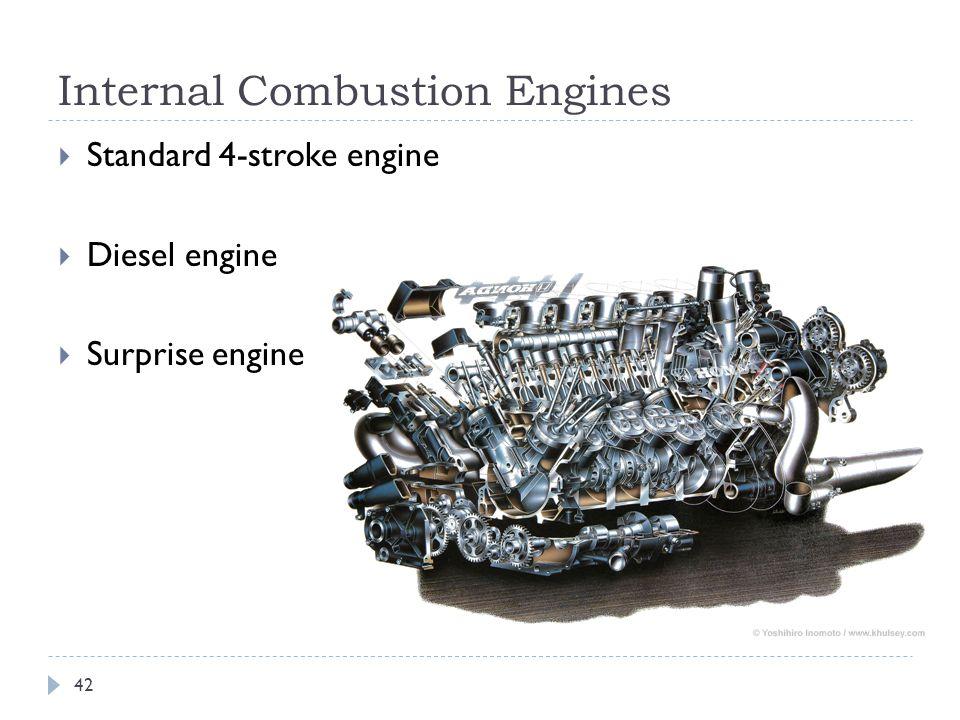 Internal Combustion Engines  Standard 4-stroke engine  Diesel engine  Surprise engine 42