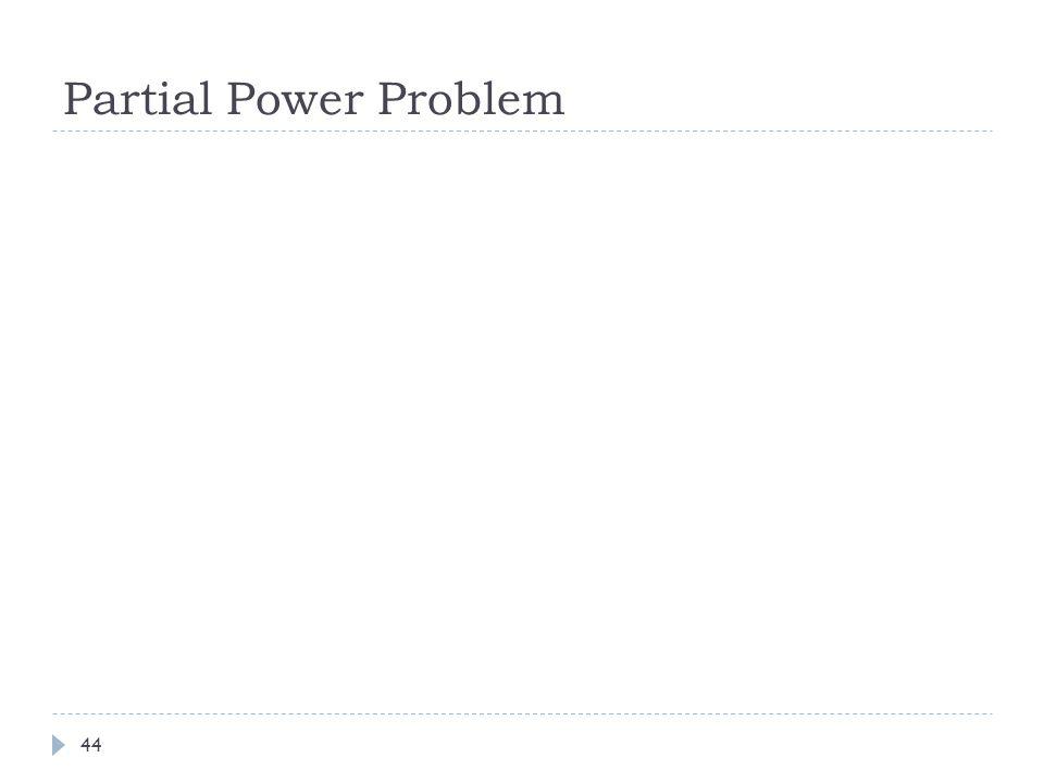 Partial Power Problem 44