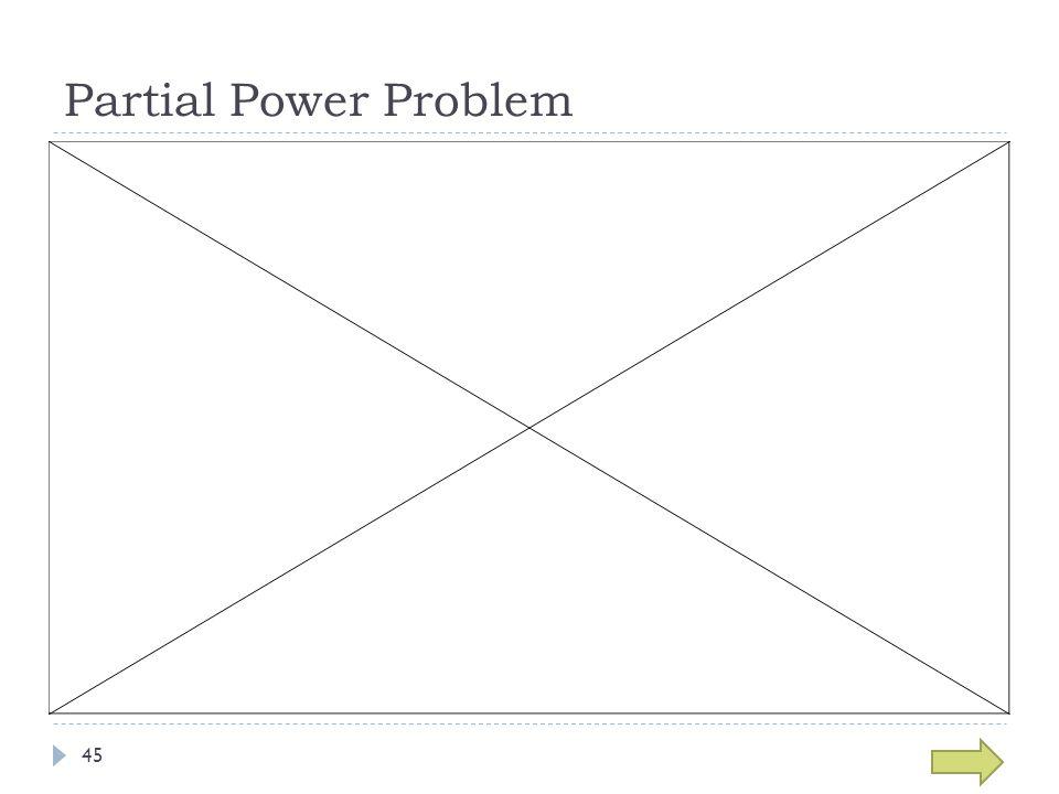 Partial Power Problem 45