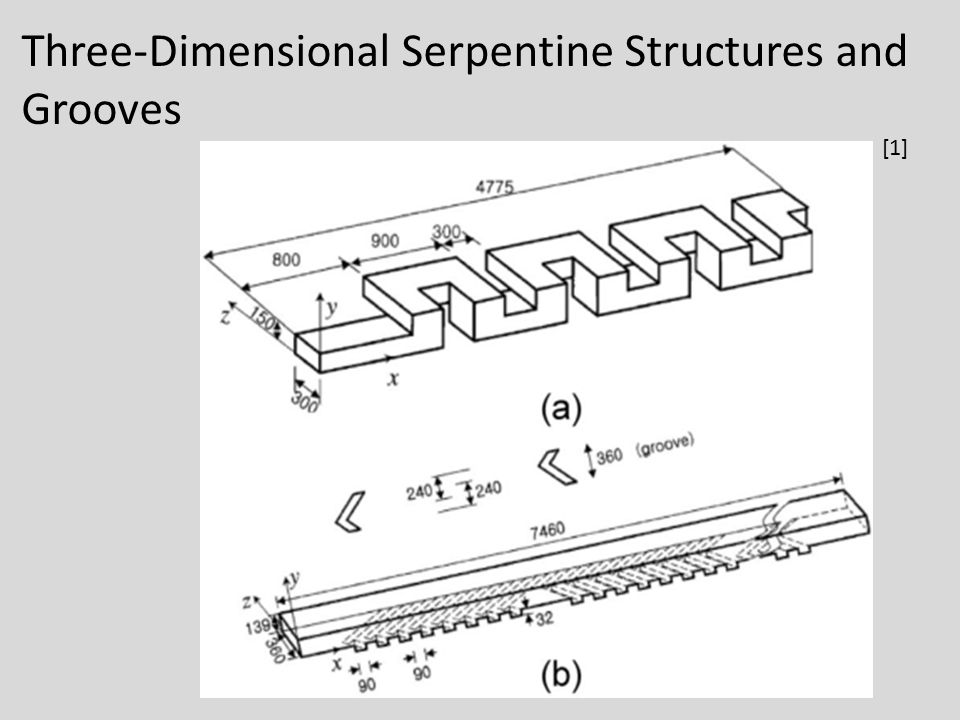 Three-Dimensional Serpentine Structures and Grooves [1]