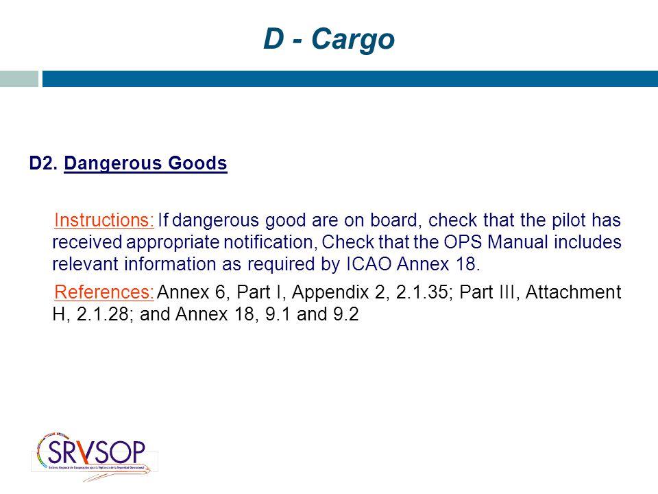 D - Cargo D2.
