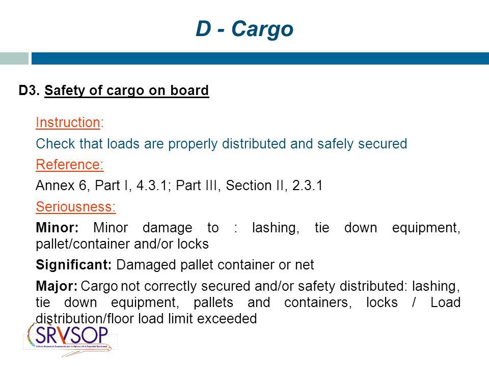 D - Cargo D3.