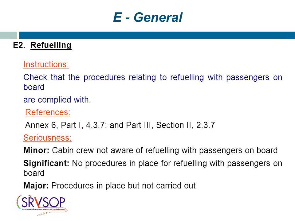 E - General E2.