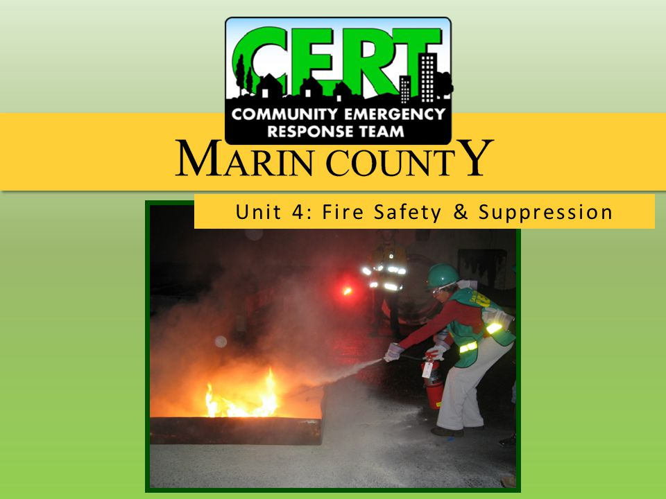 Fire Safety and Suppression Fire Extinguishers  Swimming pool or spa water  Sand or dirt  Garden hose  Others.