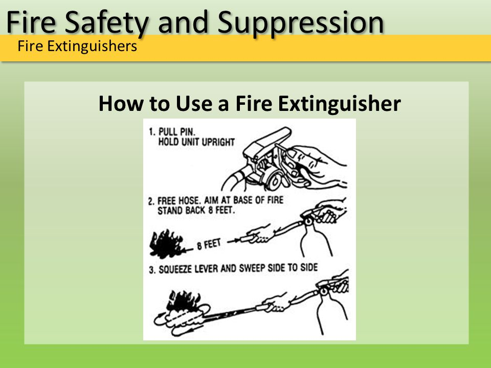 Fire Safety and Suppression Fire Extinguishers How to Use a Fire Extinguisher