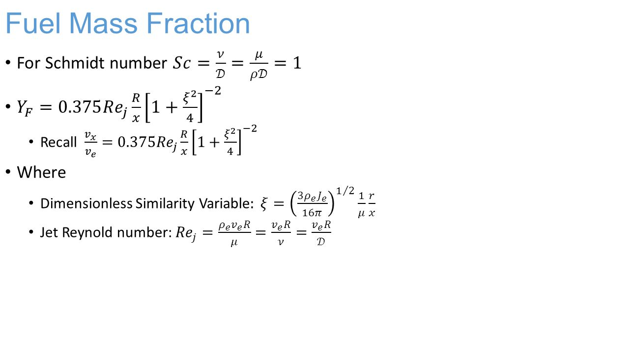 Fuel Mass Fraction