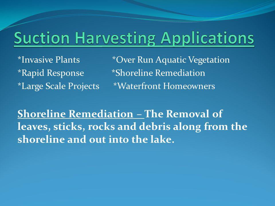 *Invasive Plants *Over Run Aquatic Vegetation *Rapid Response *Shoreline Remediation *Large Scale Projects *Waterfront Homeowners Shoreline Remediatio